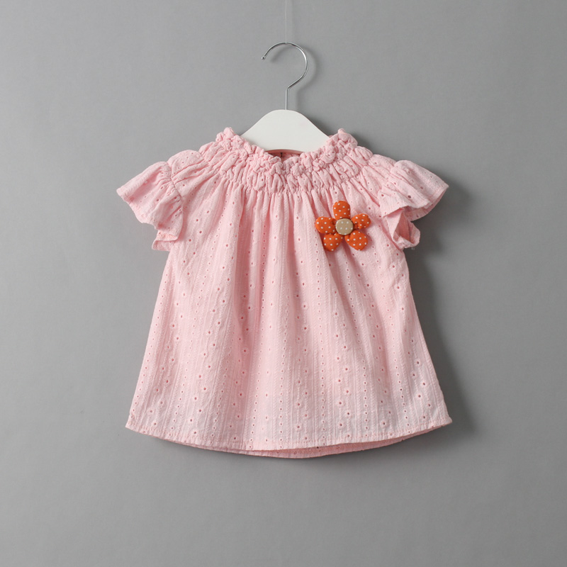 NEW Baby Girls Hallow Out Ruffle Shirts Kids Girl Summer Cotton Blouse 2016 Babies Princess Jumper Tops Childrens Clothing<br><br>Aliexpress