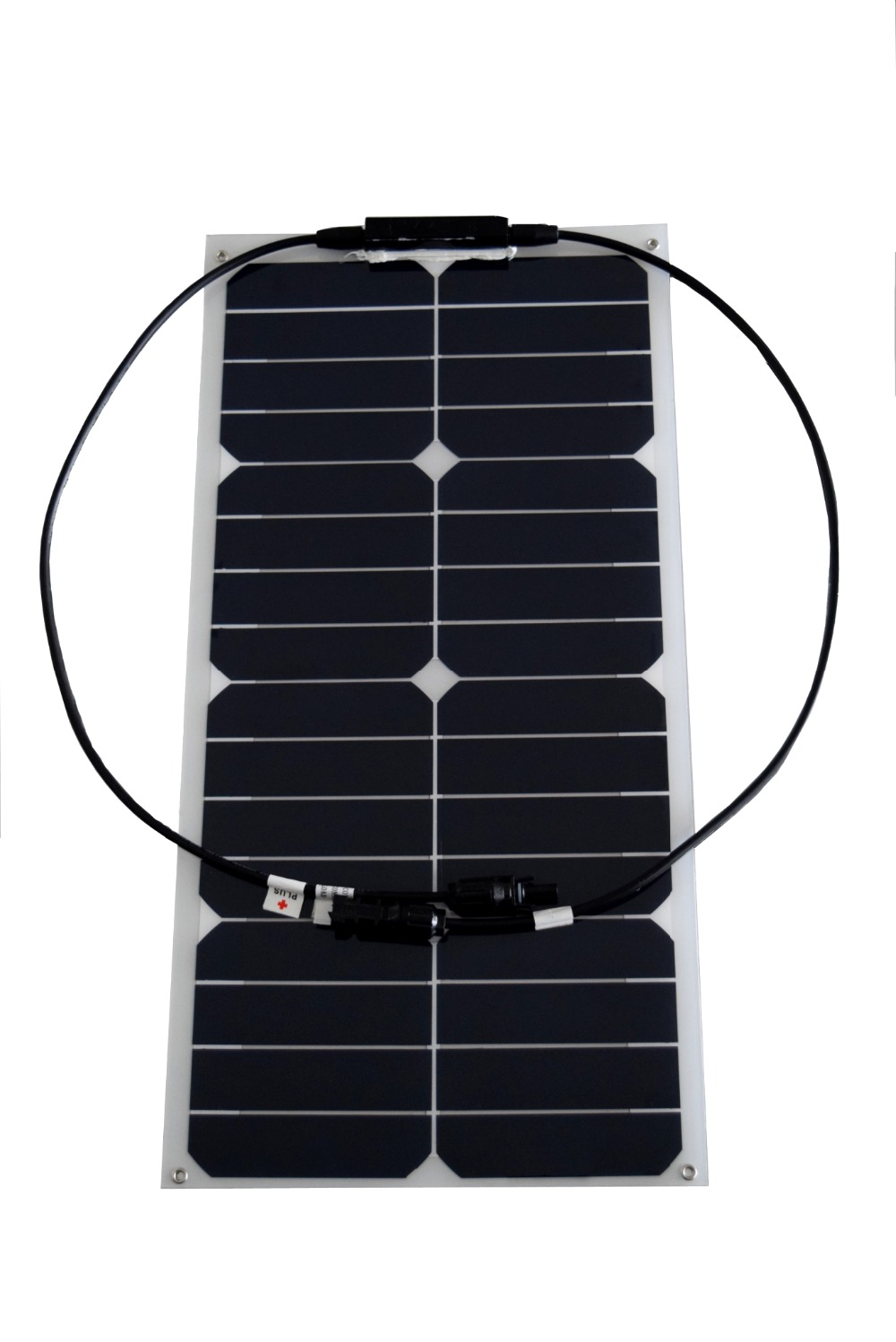 25W flexible solar panel mono solar module for 12V battery with USA solar cell with MC4 connector solar panel charger(China (Mainland))
