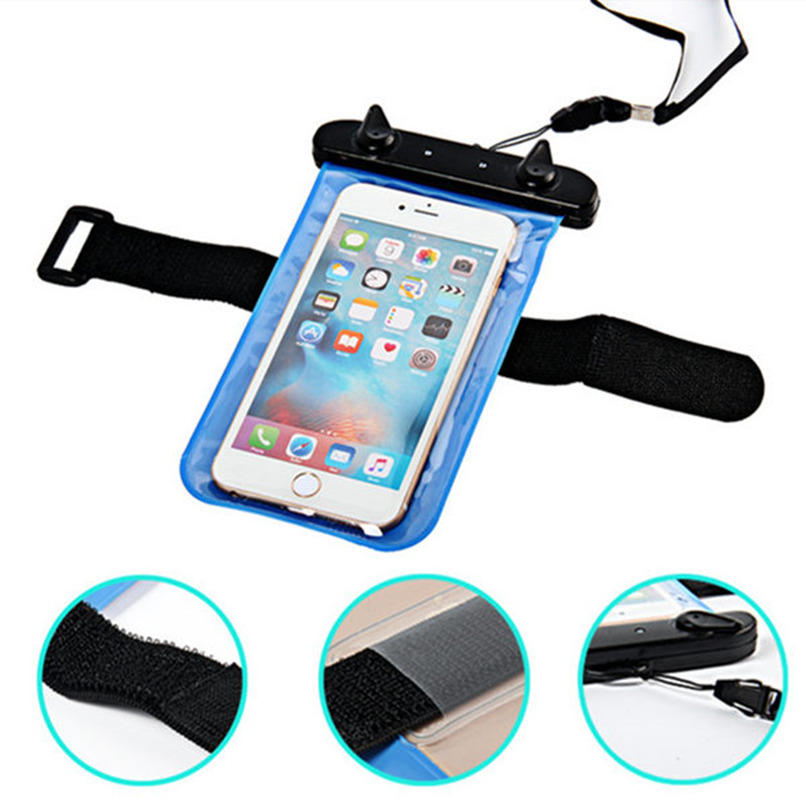 Waterproof Mobile Phone Bags with Strap Dry Pouch Case Cover For Samsung Galaxy Note 5 N9200 Swimming Waterproof Pouch New(China (Mainland))
