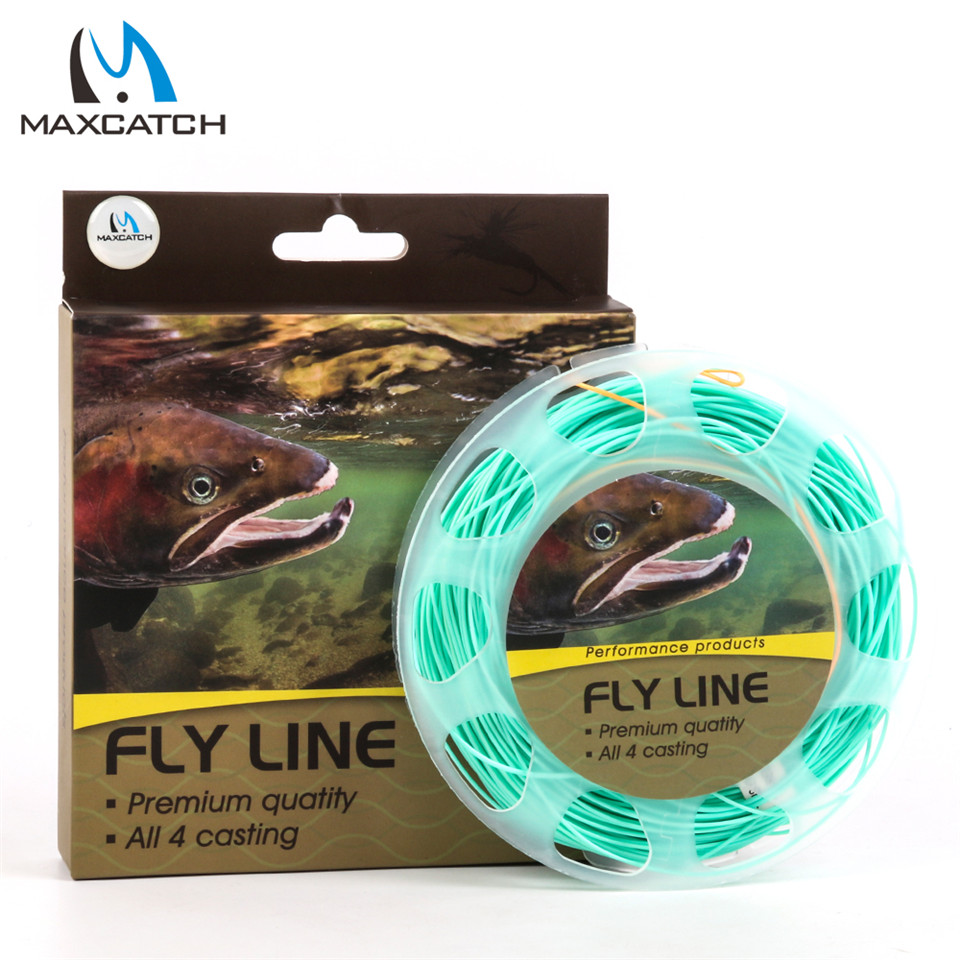 Nymph WF3F-5F Weight Forward Fly fishing line with Welded Loops 90FT 3# Pale Green-Orange Fly Line<br><br>Aliexpress