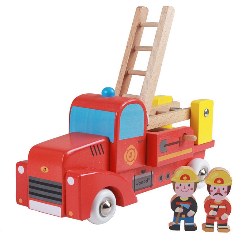 Kid's Soft Wooden Truck Set Educational Toy High Quanlity Gift For Boys Infant Playing(China (Mainland))