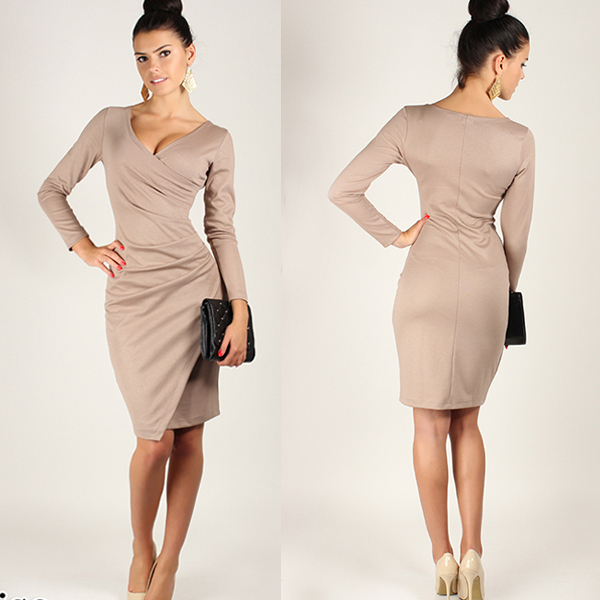 Sheath Dresses With Sleeves Photo Album - Reikian