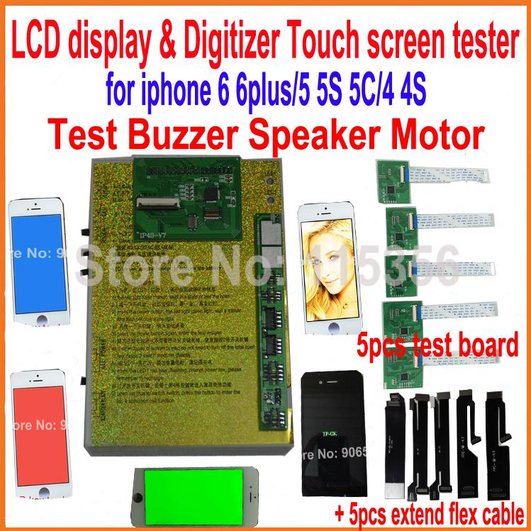 2016 New LCD display & Digitizer buzzer speaker motor Touch screen panel Tester test board for iphone 6 6 plus 4 4S 5 5S 5C(China (Mainland))