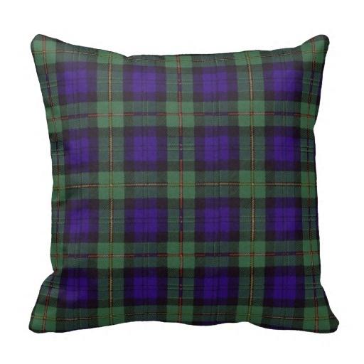 Brown Macewen Scottish Clan font b Tartan b font Plaid Throw Pillow Case Size 45x45cm Free