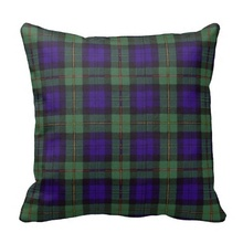 Brown Macewen Scottish Clan Tartan Plaid Throw Pillow Case (Size: 45x45cm) Free Shipping