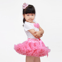 Summer Baby Girl Clothing Set White Flower T Shirt + Bow Blue Ruffles Tutu Skirts Glris 2 Pcs Sets Hello Kitty Kids Clothes