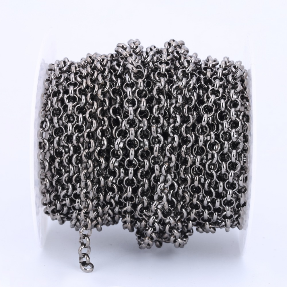 Gunmetal Chains,Rolo Iron Chain, Open Link Chain, Jewelry Findings for DIY bracelet necklace C001(China (Mainland))