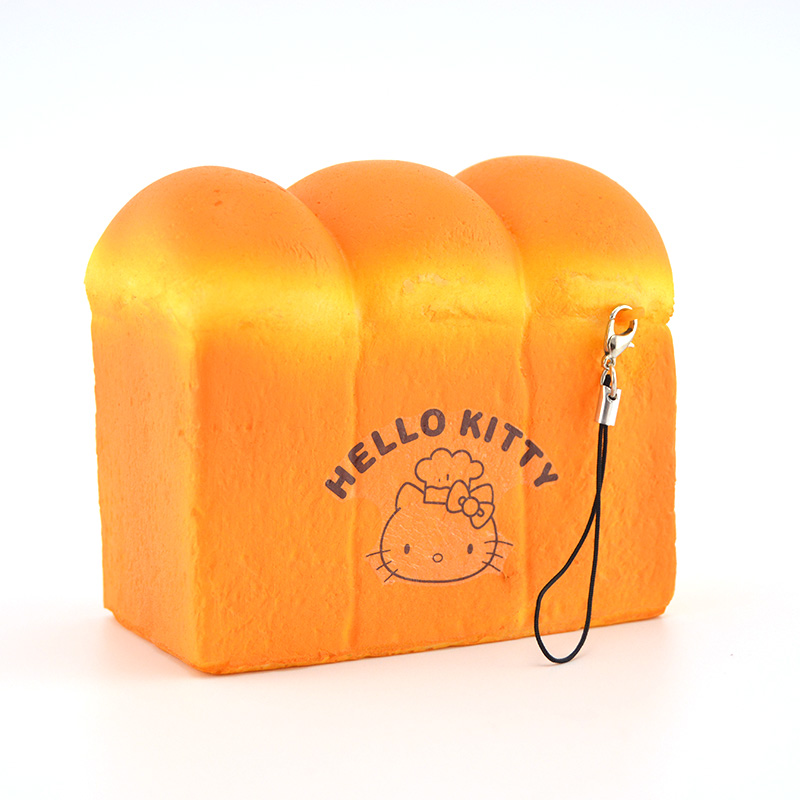Squishy Jumbo Toast : Aliexpress.com : Buy Jumbo Hello kitty Toast Soft Squishy Bread Fun Phone Straps Soft Hand ...