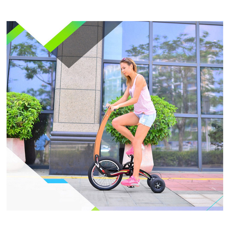 Stand up balance Super Light Three Wheels Portable exercise Electric Folding Bike Bicycle(China (Mainland))