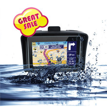 Best IPX7 Waterproof Car GPS Motorcycle GPS Navigation 4.3 inch touch screen factory direct selling Motorcycle Bluetooth FM GPS