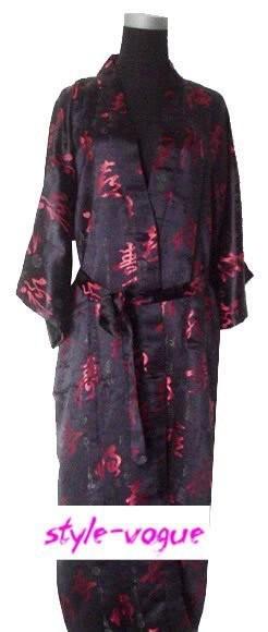 2014 New Arrival Mens Silk Bath Gown Kimono Robe Gown Chinese Tradition Dragon Phoenix Sleepwear S M L XL XXL Free ShippingОдежда и ак�е��уары<br><br><br>Aliexpress