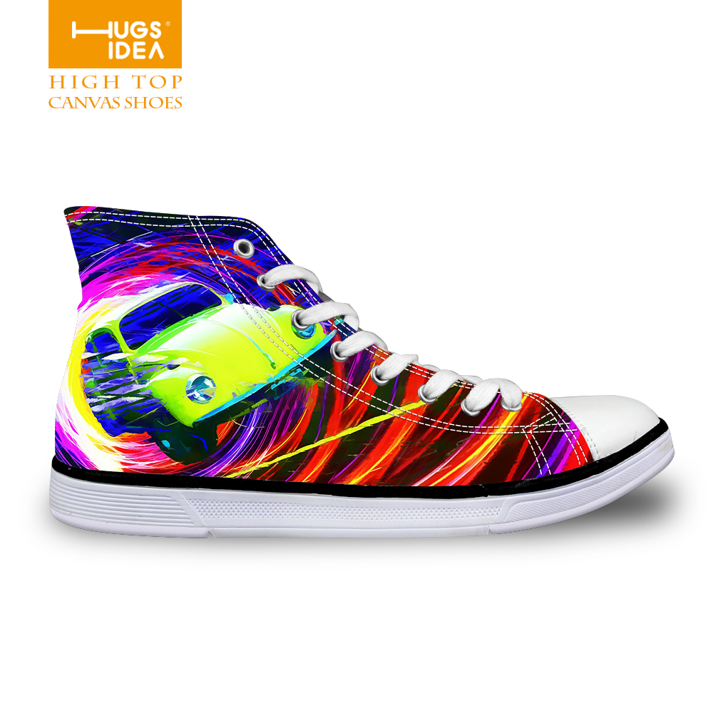 6 Styles Art Painting Men's Canvas Shoes Brand Fashion High Top Casual Canvas Shoes Vintage Print Student Footwear Zapatos(China (Mainland))