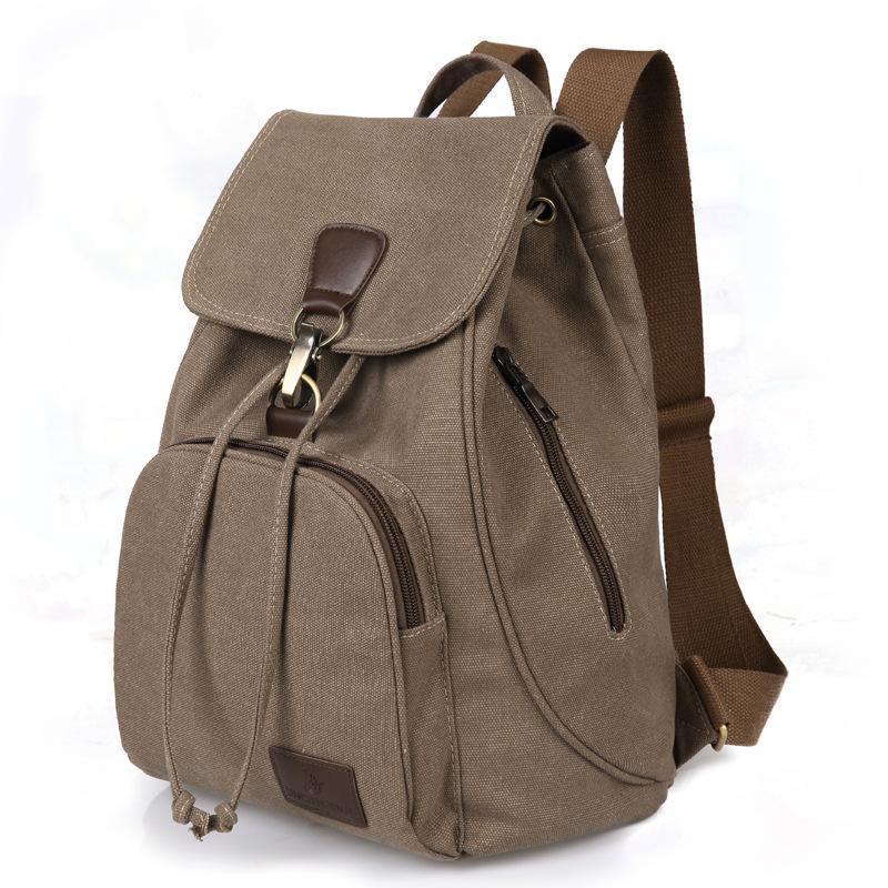 2016 100% Top Quality Women Canvas Satchel Travel School Backpacks Rucksack Mochila Bolsas Drawstring Backpack(China (Mainland))