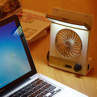 Multifunction led solar light fan with emergency lamp mini student fan with flashlight Emergency fan Free shipping