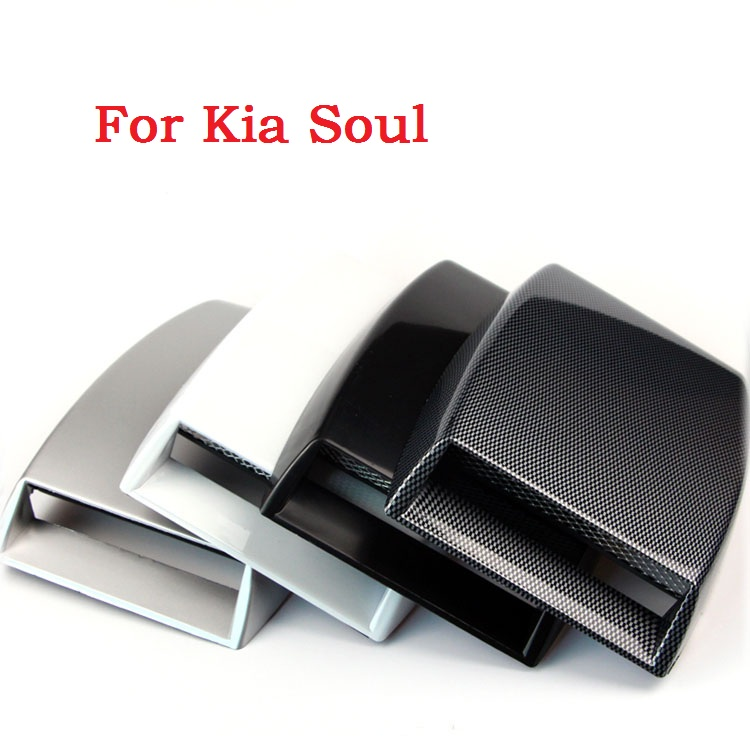 New Car Decorative Air Flow Intake Hood Scoop Vent Bonnet Cover White Fashion Stylish Car Stickers For Kia Soul(China (Mainland))