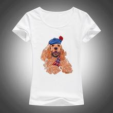 2017 pets lovely dog printed t shirt women cool summer cute cartoon animal shirts casual tops F85(China (Mainland))