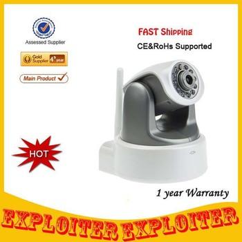 Free Shipping 720P mega Pixel 1280*720 Pixels HD IP Camera Wifi Wireless SD Card Slot P2P H.264 IR Night Vision Indoor Security