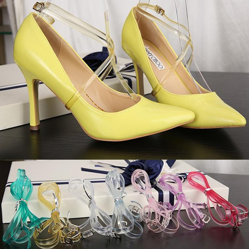 10 Pairs High Heeled Flat Shoe Safety Clips Bands Strap Locking Shoe Silicone Shoelace Belt Wedding Sport Outside Universal(China (Mainland))