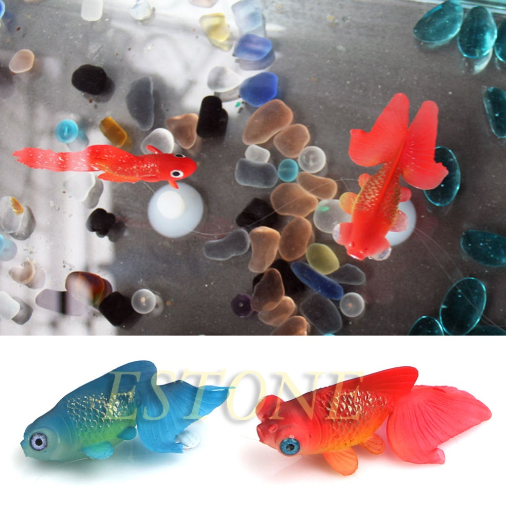 decor goldfish aquarium decoration artificial glowing