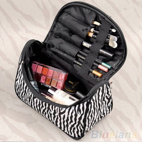 Portable Zebra Travel Wash Storage Toiletry Pouch Cosmetic Case Makeup Bag 4BHI(China (Mainland))