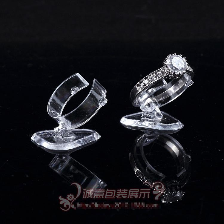 Wholesale 1000pcs Clear View Plastic Ring Display Stand Holder The Ring Frame Ring Jewelry Display Shelf Jewelry Display Wholesa(China (Mainland))