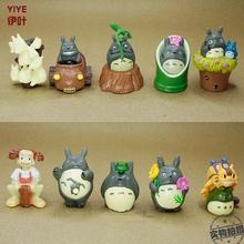 BEST SALE Toy set 10PCS/Set Hayao Miyazaki Totoro Cartoon Anime Animation Model Toy doll Excellent Gift MagicToys