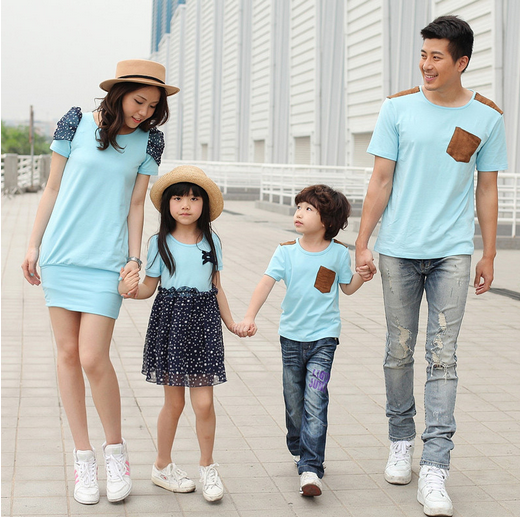2014 summer family fashion,lovers,short-sleeve T-shirt man boys, plus size, one-piece dress lady girls - 99 Forever store