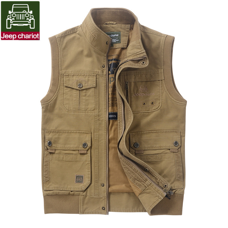 Free shipping 2015 new high quality multi pocket men vest for Mens fishing vest