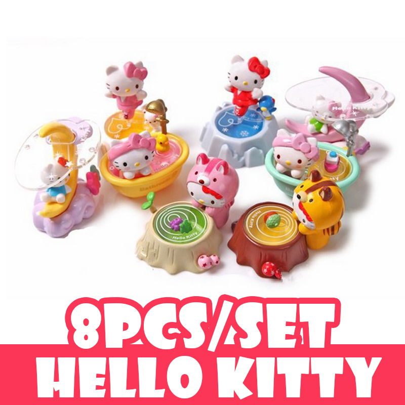 Collection set Hello Kitty Action Figures Toys Life scene Lovely Anima Kitty Doll Plastic PVC Toy Gifts High quality Kids toys<br><br>Aliexpress