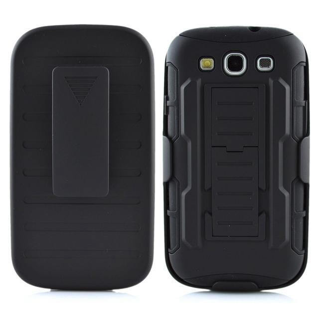 Shockproof Stand Hard Phone Cases for Samsung Galaxy S3/S4/S5/S6/S6 edge Rugged Impact Belt Clip Holster Cover Phone Cases(Hong Kong)