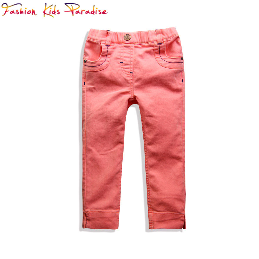 Girls Pants Children Leggings Girls 2015 Brand New Kids Leggings for Girls Jeans Children Pants Baby Girl Leggings 2-14Y(China (Mainland))
