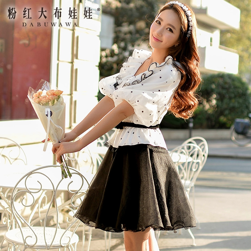 A word Skirt Pink Doll 2016 spring new  all-match thin ladies skirt