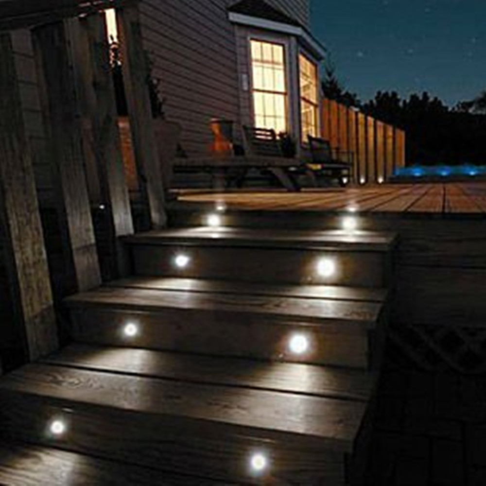 10pcs lots rgb color led outdoor light for patio pavers for Garden decking with lights