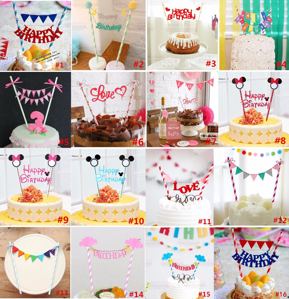 1set Mickey Minnie mouse cupcake cake topper cake flags baby shower child birthday party supplies cake baking party decorative(China (Mainland))