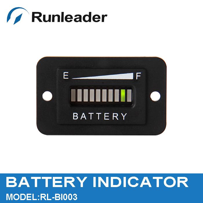 free shipping 2pcs12/24V Battery Indicator Tester charge meter for golf carts car van forklift truck electric vehicle RL-BI001(China (Mainland))