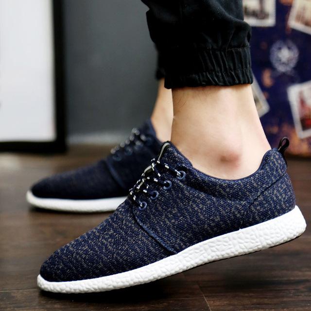 2016 новая Коллекция Весна лето мужчины холст обувь тенденция зашнуровать Повседневная ...
