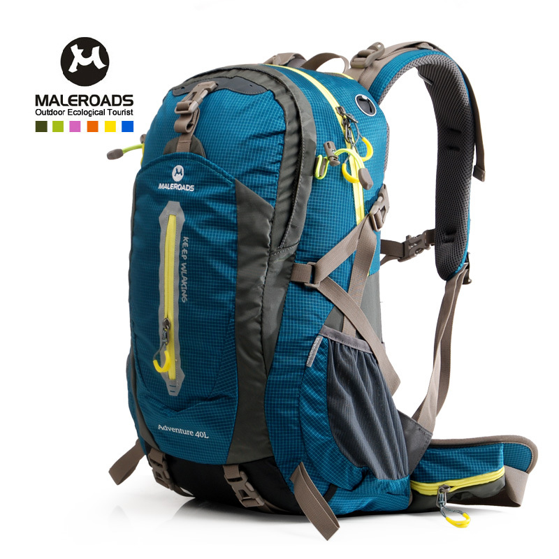 Maleroads 50L 40L professional outdoor hiking backpack camping mochila waterproof nylon travel mountaineering bag pack women&men(China (Mainland))