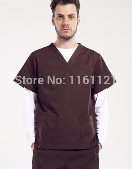 2015 New Unisex Summer Nurse Uniform Hospital Medical Scrub Set Short Sleeve Surgical uniform(China (Mainland))