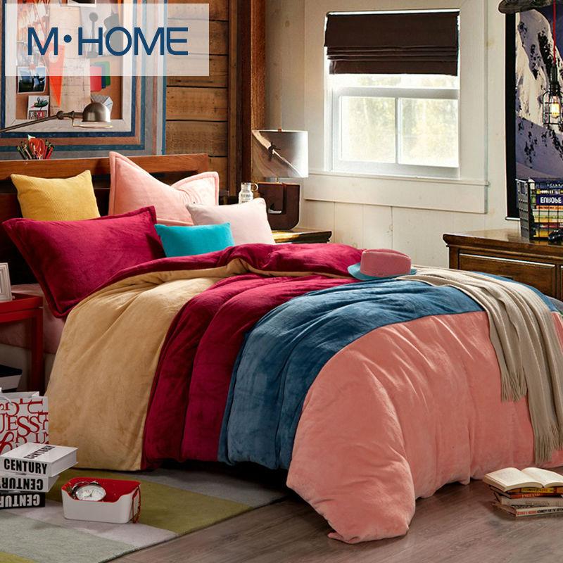 Popular fleece comforter cover buy cheap fleece comforter for Cheap matching bedroom furniture