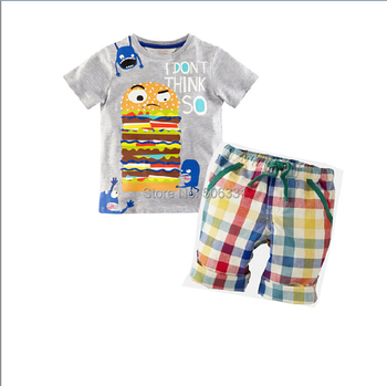 Boys Casual Clothing Sets Children Summer 2-Piece Suit Sets T-shirts+Shorts Baby Boys Summer Cotton Costume Kid Apparels