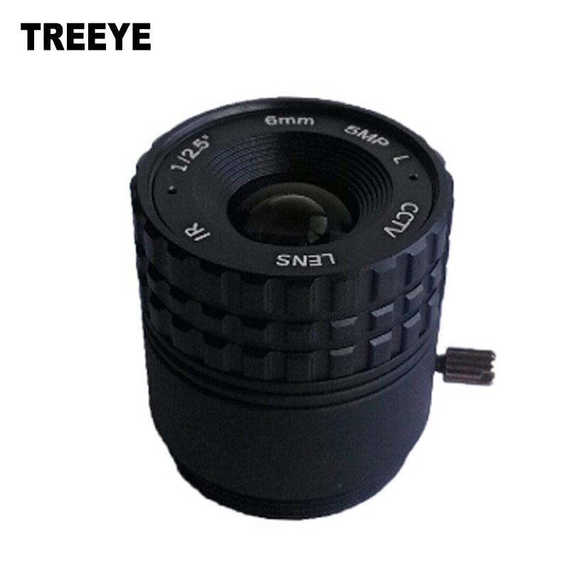 "HD 5.0Megapixel IR CCTV Lens 6mm CS Lens 5MP HD Security Cameras F2.0 Image Format 1/2.7"" HFOV 60.49degree"
