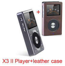 Free leather case(brown color)+Fiio X3 2nd gen / X3 II / X3K Native DSD Decoding 192k Hz / 24bit Hifi Music Player(China (Mainland))