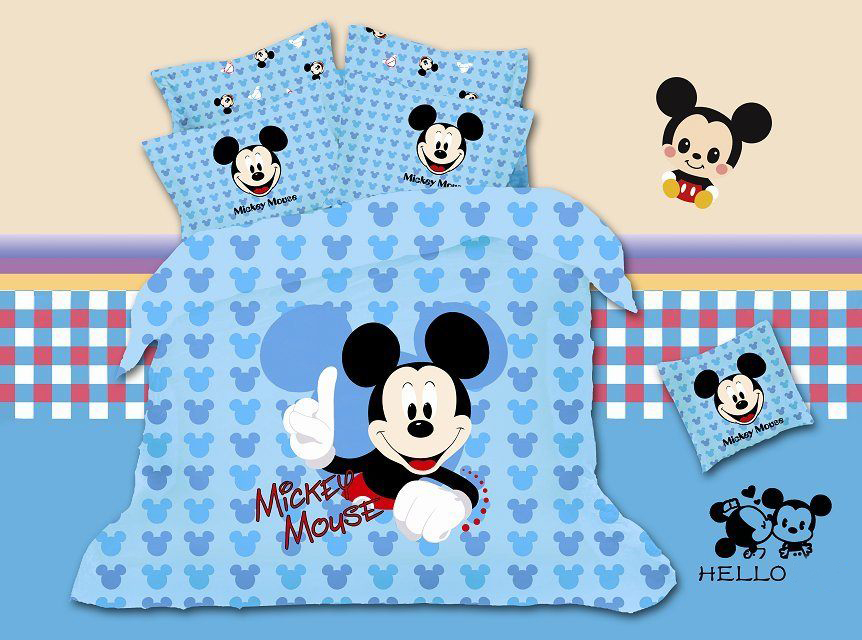 2014 duvet cover comforter bedding sets bed linen promotions! 4pc100% breathable linens and comfortable bedding cartoon style(China (Mainland))
