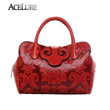 New Design Chinese Element Women Fashion Vintage Handbags Ladies High Quality Luxury Casual Tote Crossbody Cowhide Bags(China (Mainland))
