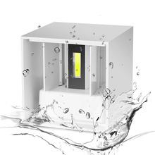 AC 220V Waterproof 7W Aluminum Cube COB LED Wall Lamp Light Modern Home Lighting Indoor Outdoor Decoration(China (Mainland))