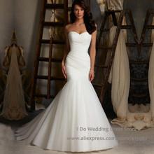 Vestido De Casamento Elegant 2015 Strapless Mermaid Wedding Dresses Tulle Cheap Bridal Gowns Corset Back W3820(China (Mainland))