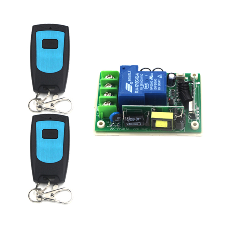AC 85V~250V 3000W 30A 1 CH Radio Frequency Wireless Remote Switch 220V RF Receiver& 2 Transmitter Toggle Momentary Latched 4147(China (Mainland))