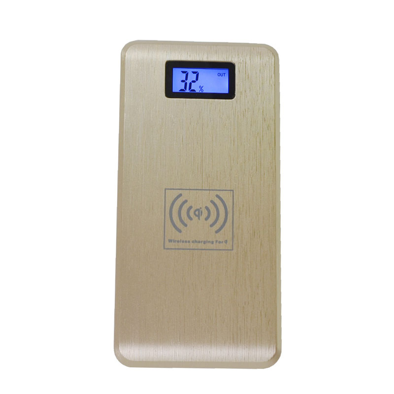 2 in 1 Qi Wireless Charger Pad 12000 mAh High Capacity Dual USB Power Bank External Battery Charging Device for Samung LG(China (Mainland))