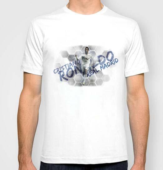 New Men Real madrid football player Cristiano Ronaldo T Shirts Cotton Sport Summer Round Neck Short Sleeve t-shirt(China (Mainland))