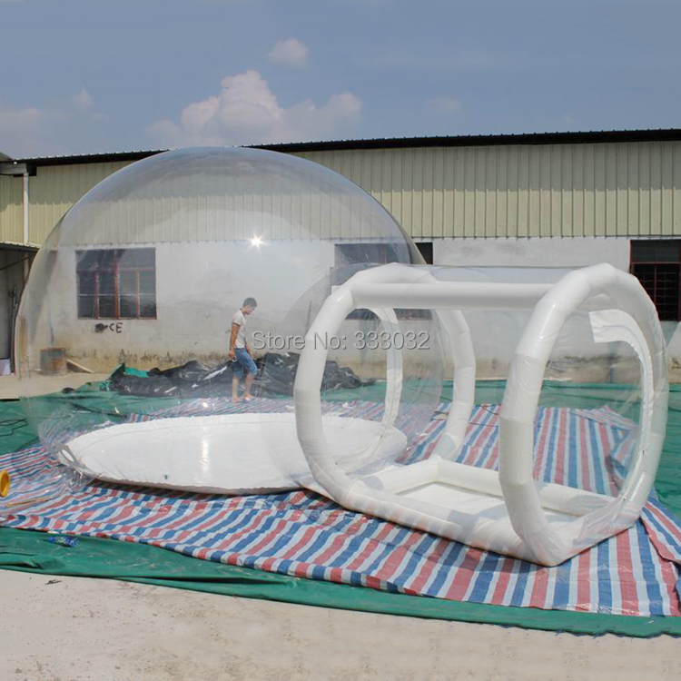 2015 Free Shipping Inflatable Clear Bubble Tent,Camping Tent,Lawn Tent,Dome Tent(China (Mainland))